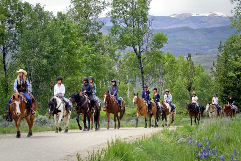 Horseback riding at C Lazy U Ranch in Granby, Colorado
