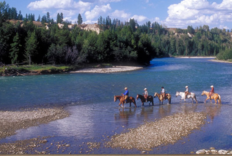 Horseback riding at Three Bars Cattle & Guest Ranch in Cranbrook, British Columbia, Canada