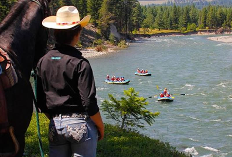 Whitewater rafting at Three Bars Cattle & Guest Ranch in Cranbrook, British Columbia, Canada