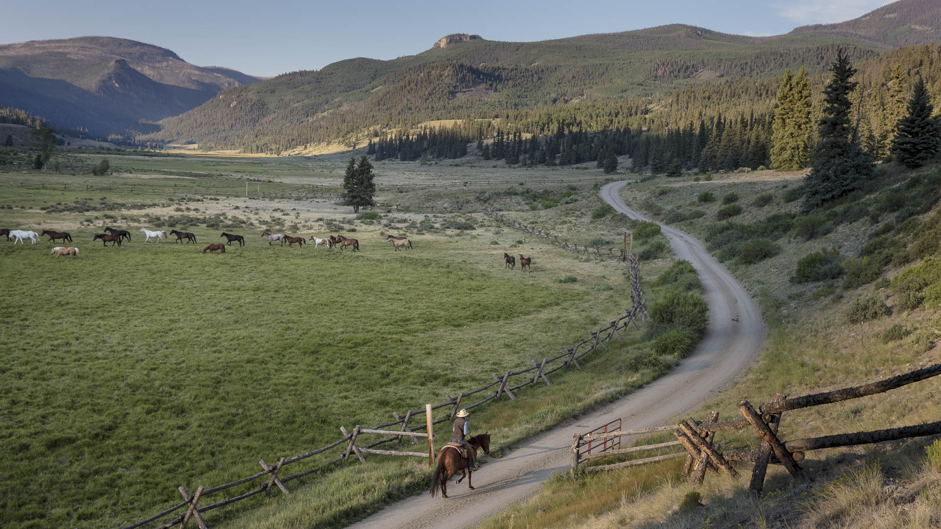 Horseback riding at 4UR Ranch in Creede, Colorado