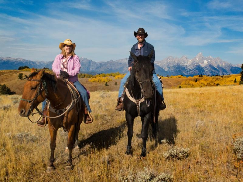 Horseback riding with Gros Ventre River Ranch in Wyoming