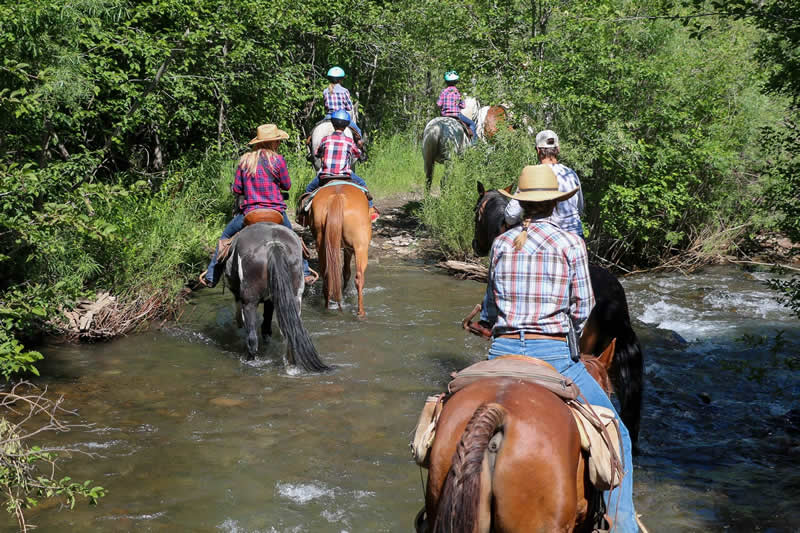 Horseback riding at Smith Fork Ranch in Crawford, Colorado