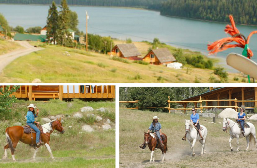 Horseback riding at Spring Lake Ranch in 100 Mile House, British Columbia, Canada