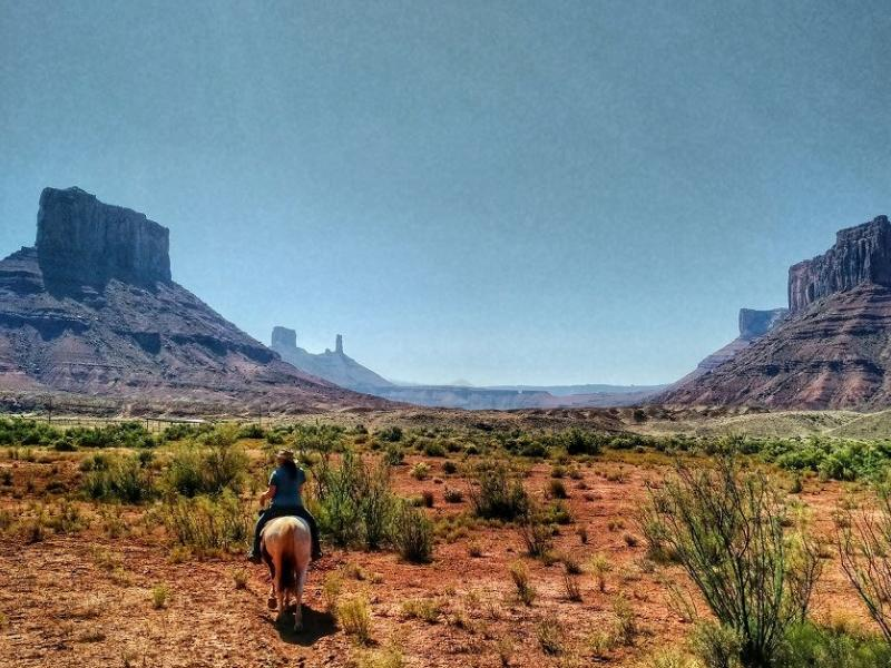 Horseback riding at Utah Sorrel River Ranch Hotel & Spa Resort