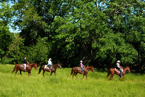 Horseback riding at Bucks and Spurs in Missouri