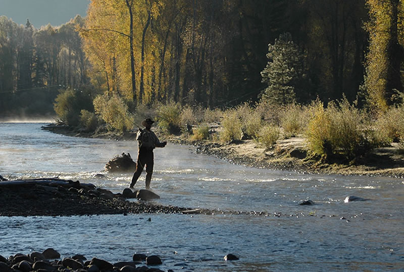 Fly Fishing at Rainbow Trout Ranch in Antonito, Colorado