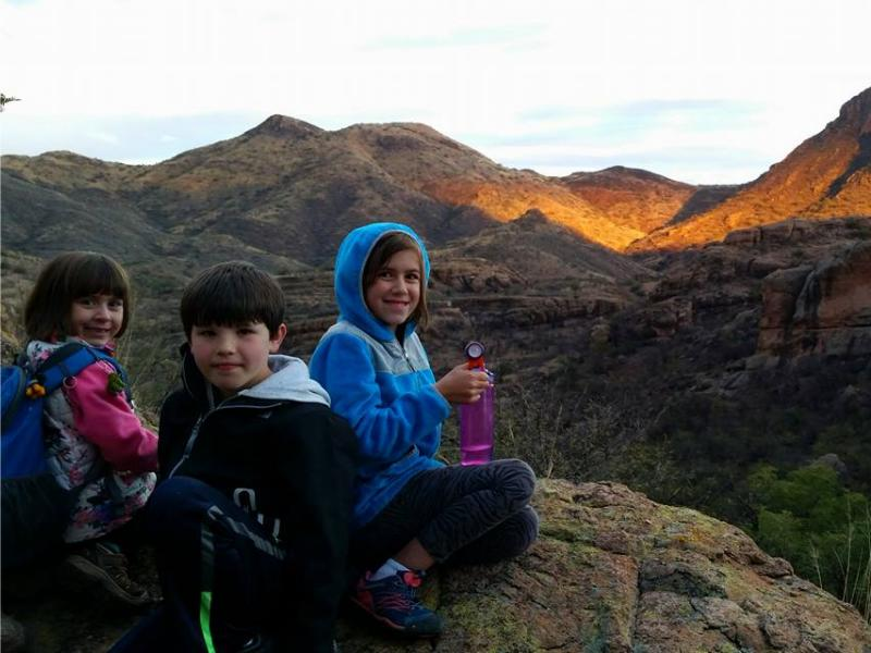 Hiking in the Arizona desert with Rancho Los Banos